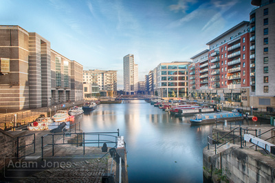 Clarence Dock at Sunset